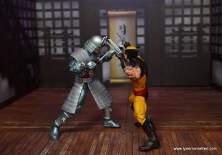Marvel Legends Silver Samurai figure review - locked up with wolverine
