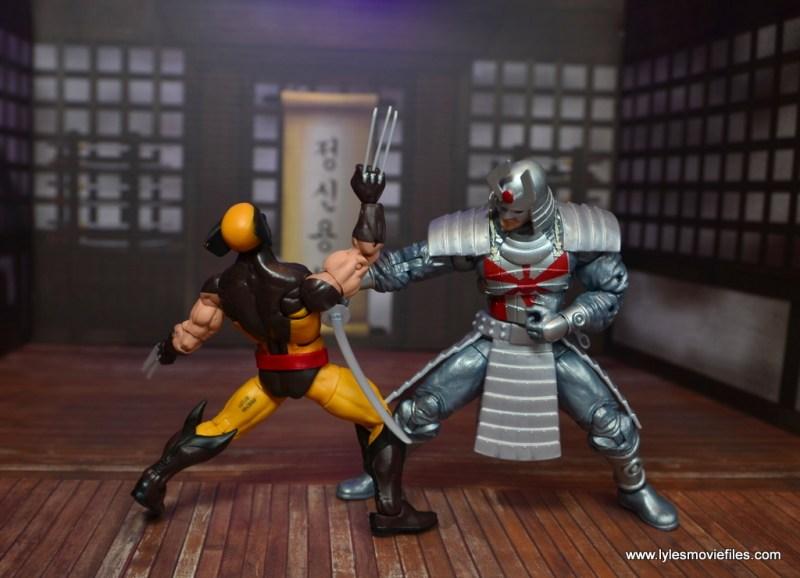 Marvel Legends Silver Samurai figure review - stomach slash to wolverine