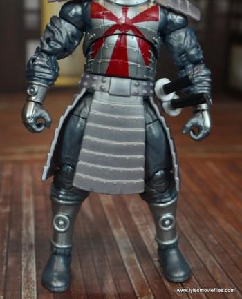 Marvel Legends Silver Samurai figure review - torso armor detail
