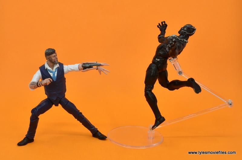 Marvel Legends Ulysses Klaue figure review - blasting black panther