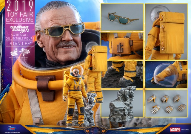 hot toys guardians of the galaxy vol. 2 stan lee figure - collage