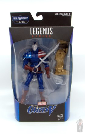 marvel legends citizen v figure review - package front