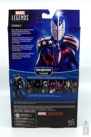 marvel legends citizen v figure review - package rear