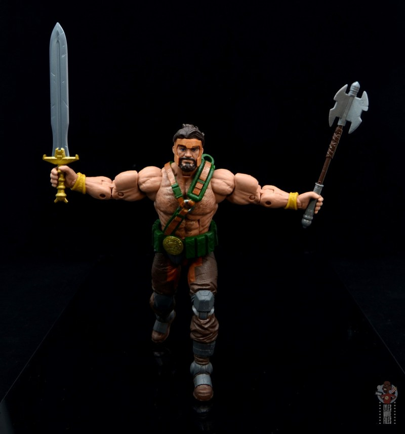 marvel legends hercules figure review - charging with sword and mace