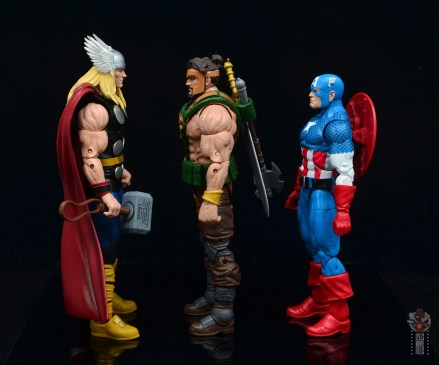 marvel legends hercules figure review - facing 80th thor and captain america