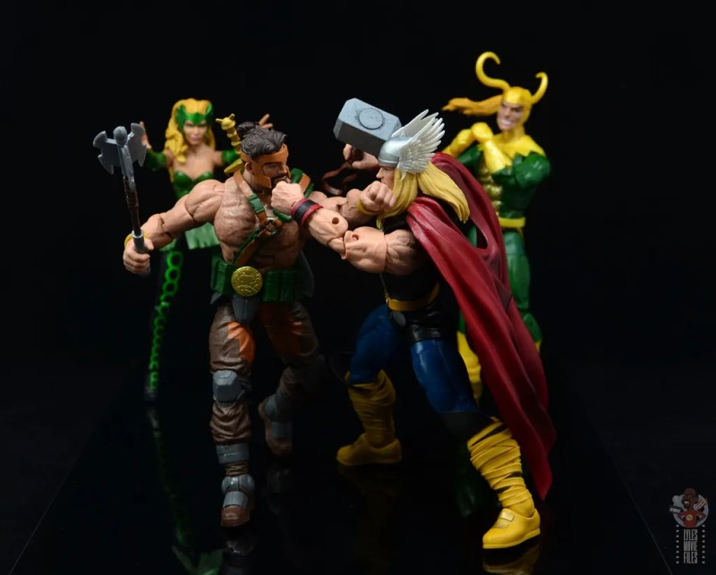 marvel legends hercules figure review - fighting thor