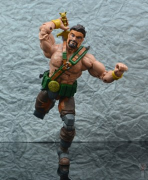 marvel legends hercules figure review - on the run and grabbing sword