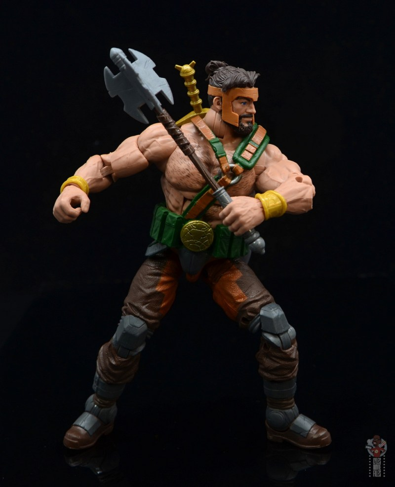 marvel legends hercules figure review - readying mace