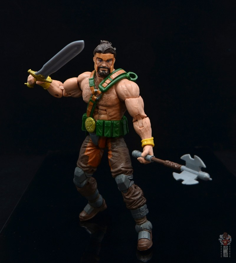 marvel legends hercules figure review - weapons ready