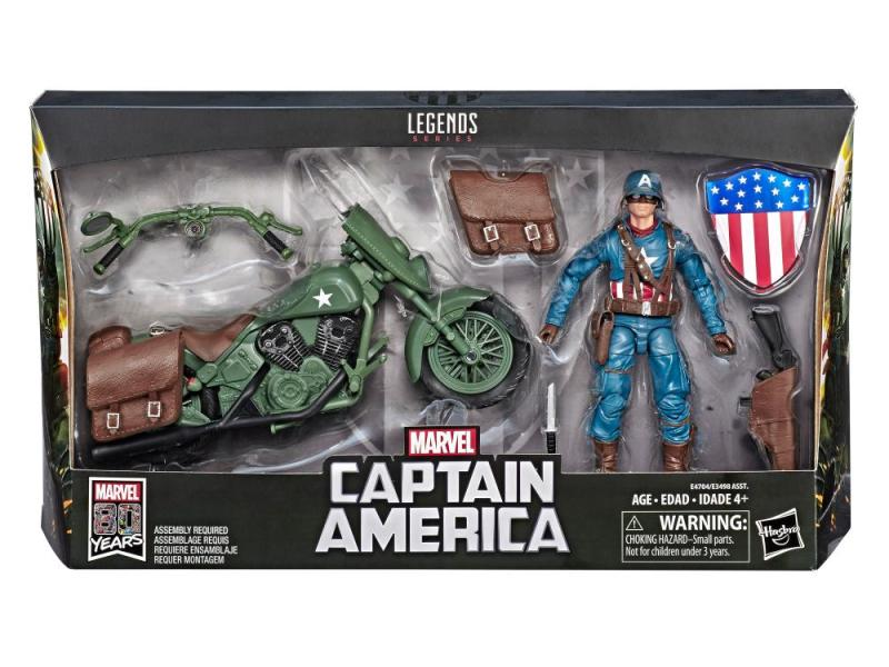 marvel legends ultimate captain america figure - packaged pic