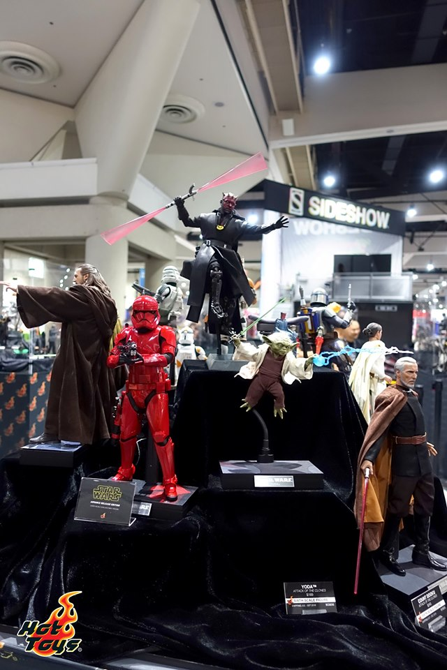 sdcc 2019 hot toys reveals - star wars display