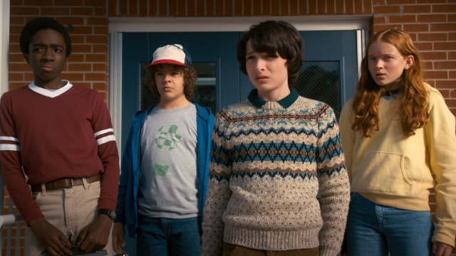 stranger things season 2 - lucas, dustin, mike and max