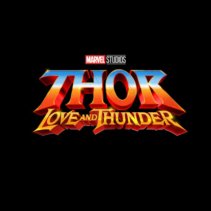 thor love and thunder title treatment