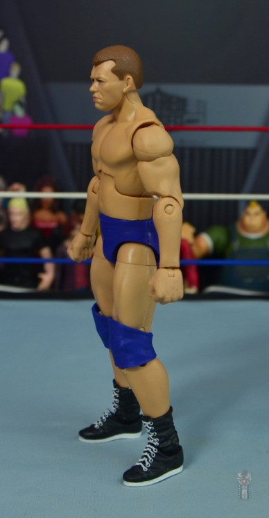 wwe elite bob backlund figure review - left side