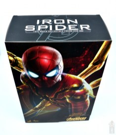 hot toys avengers infinity war iron spider figure review - package top
