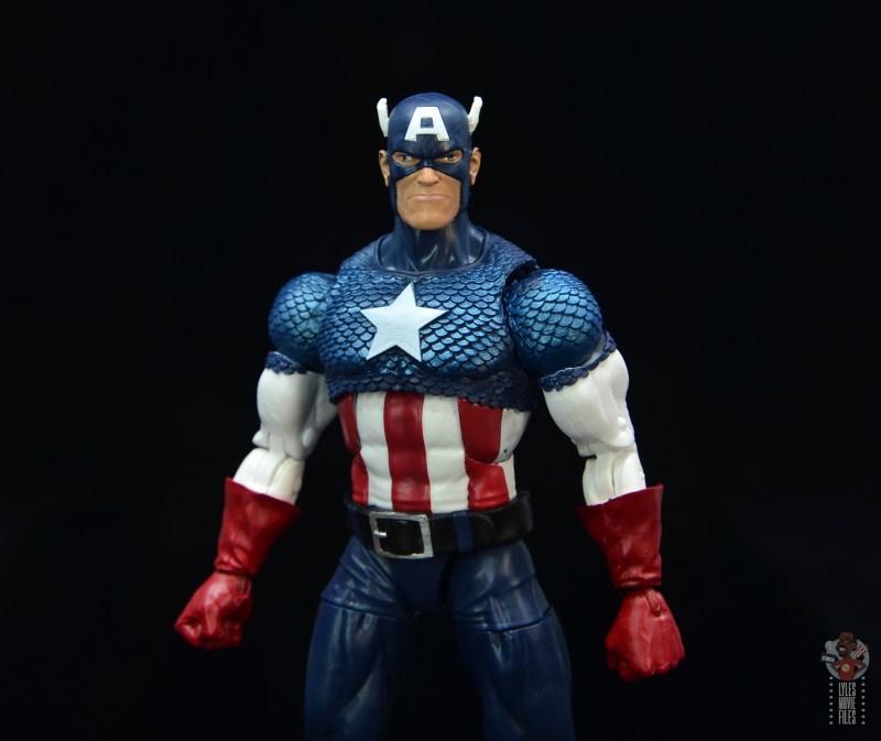marvel legends captain america figure review 80th anniversary - alternate head sculpt