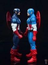 marvel legends captain america figure review 80th anniversary - facing vintage captain america