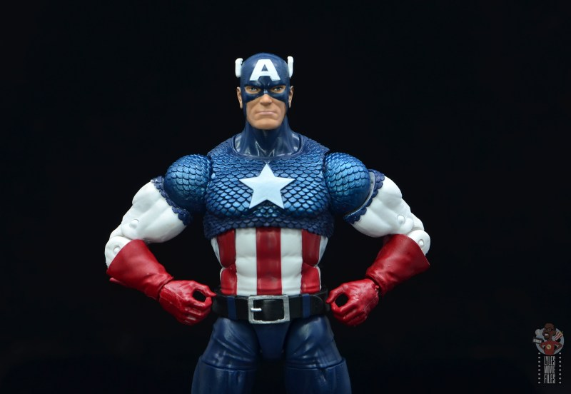 marvel legends captain america figure review 80th anniversary - hands on hips