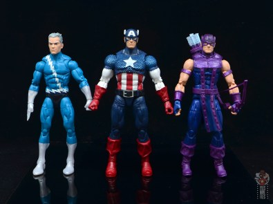 marvel legends captain america figure review 80th anniversary - scale with quicksilver and hawkeye