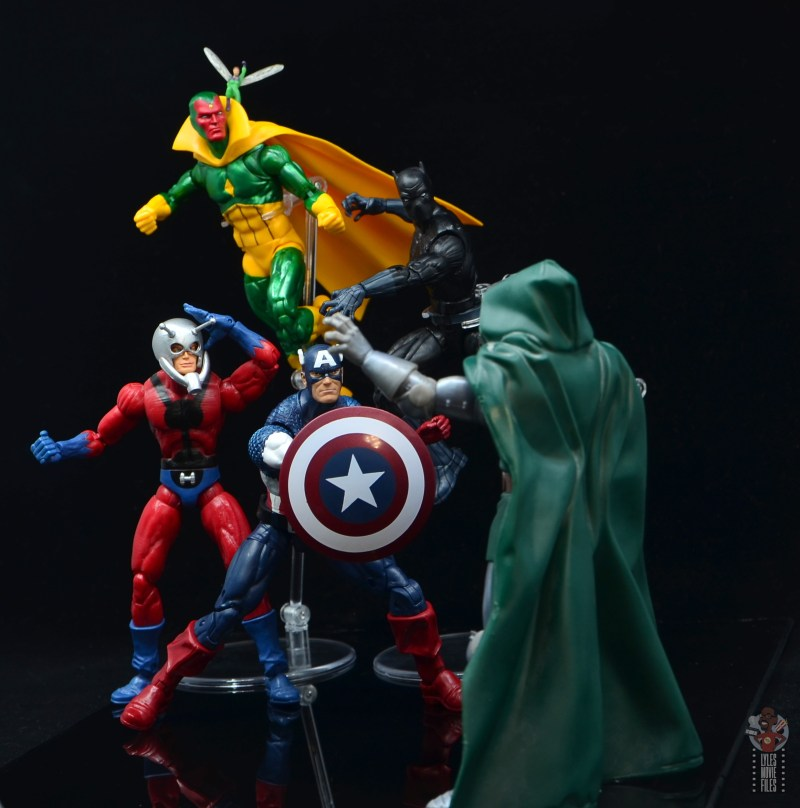 marvel legends captain america figure review 80th anniversary - with ant-man, visionm wasp and black panther vs dr. doom