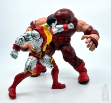 marvel legends colossus and juggernaut figure review 80th anniversary - colossus punching juggernaut right hand