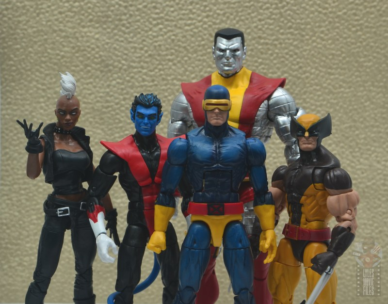 marvel legends colossus and juggernaut figure review 80th anniversary - colossus with storm, nightcrawler, cyclops and wolverine