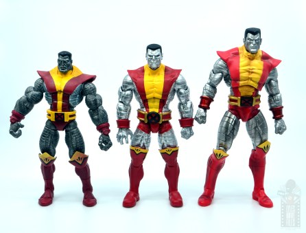 marvel legends colossus and juggernaut figure review 80th anniversary - colossus with toy biz, marvel select figures