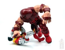 marvel legends colossus and juggernaut figure review 80th anniversary - juggernaut crushing colossus