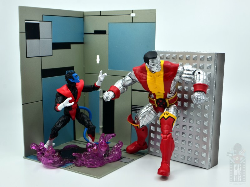 marvel legends colossus and juggernaut figure review 80th anniversary - nightcrawler and colossus in danger room