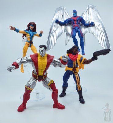 marvel legends colossus vs juggernaut figure review - 80th anniversary - with jean grey, arachangel and bishop