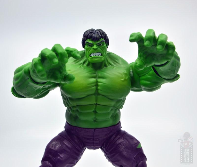 marvel legends hulk vs wolveringe figure review 80th anniversary - hulk charging at you