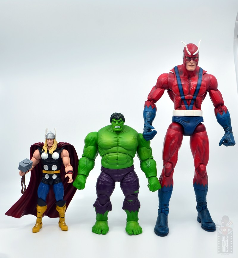 marvel legends hulk vs wolveringe figure review 80th anniversary - hulk scale with thor and giant man