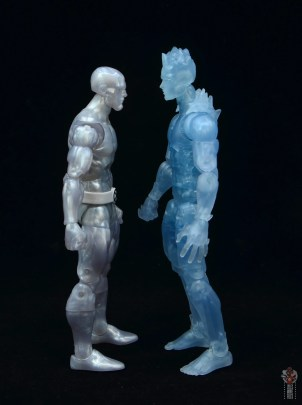 marvel legends iceman figure review - facing earlier iceman