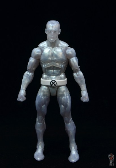 marvel legends iceman figure review - front