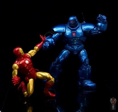 marvel legends iron man 80th anniversary figure review - battling iron monger