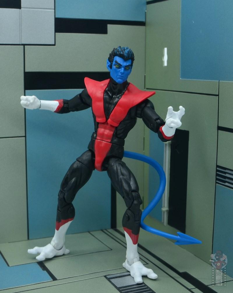marvel legends nightcrawler figure review - in danger room