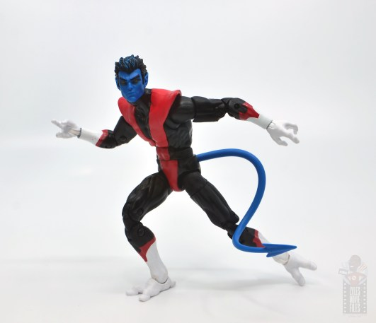marvel legends nightcrawler figure review - on the move