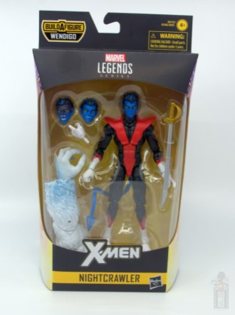 marvel legends nightcrawler figure review - package front