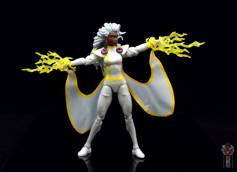 marvel legends storm figure review - shooting lightning