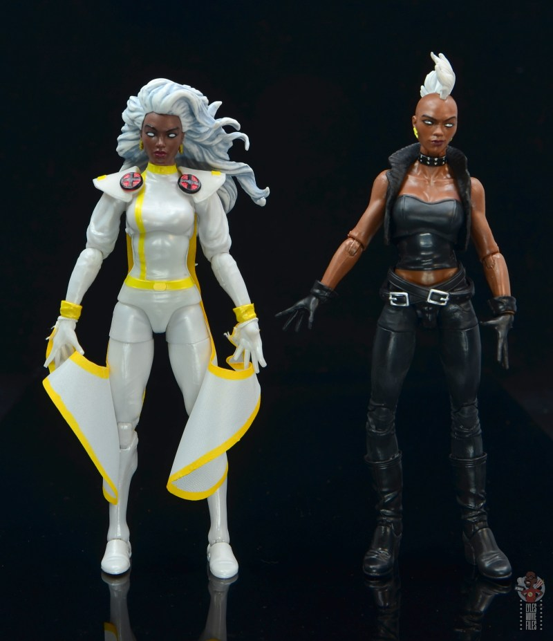 marvel legends storm figure review - with 80s storm