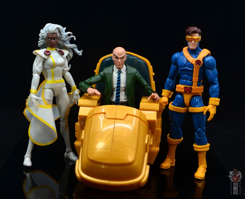 marvel legends storm figure review - with professor x and cyclops