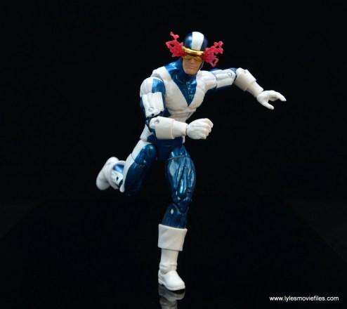 marvel legends x-factor cyclops figure review - running