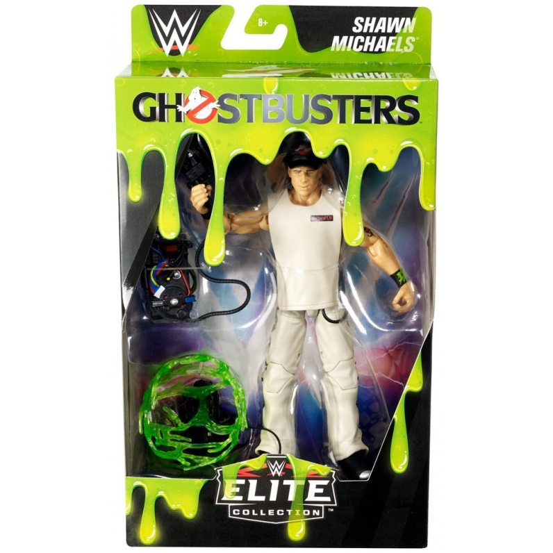 wwe ghostbusters shawn michaels figure - package