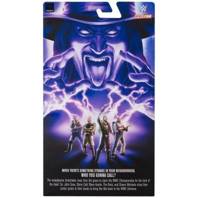 wwe ghostbusters the undertaker figure - package rear