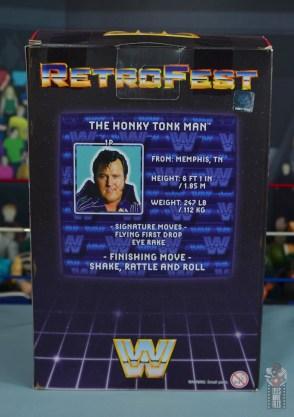 wwe retrofest honky tonk man figure review - package rear