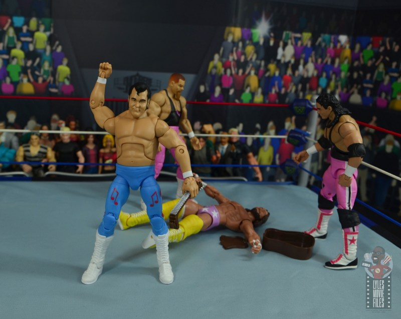 wwe retrofest honky tonk man figure review - twisting and shaking over macho man