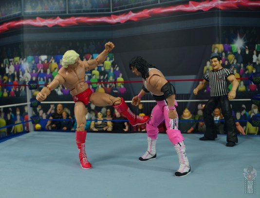 wwe retrofest ric flair figure review - kicking bret hart's knee