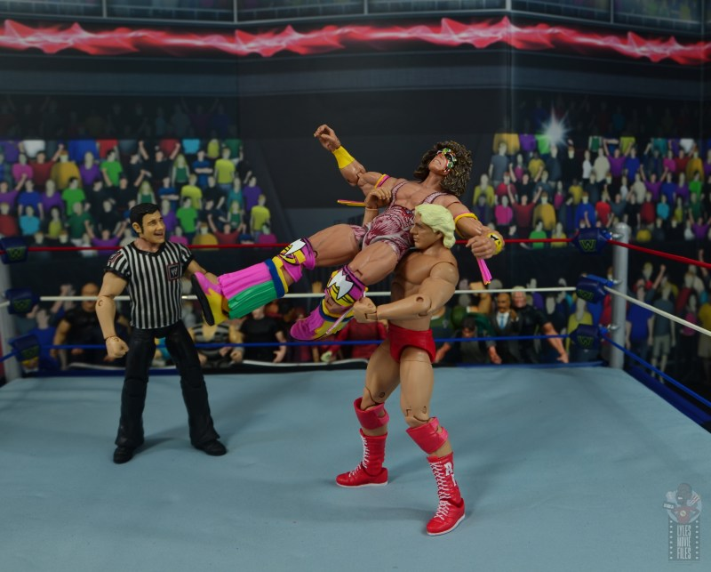 wwe retrofest ric flair figure review - knee smash to ultimate warrior