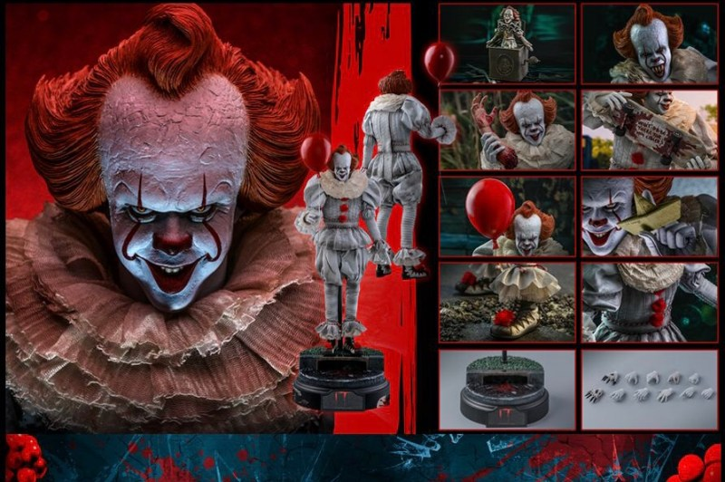 hot Toys it Chapter Two pennywise figure - collage