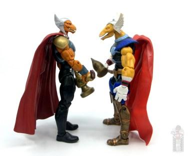 Marvel Legends Beta Ray Bill figure review - facing toy biz beta ray bill